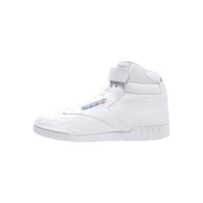 リーボック メンズ スニーカー シューズ EX-O-FIT LEATHER SHOES - High-top trainers - white white