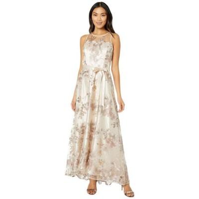 タハリ レディース ワンピース トップス Sleeveless Embroidered Halter Long Gown