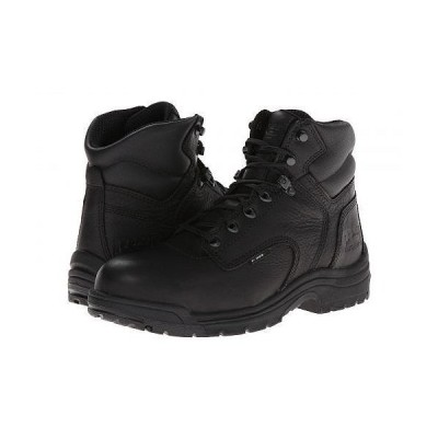 "Timberland PRO ティンバーランド メンズ 男性用 シューズ 靴 ブーツ 安全靴 ワーカーブーツ TITAN(R) 6"" Alloy Safety Toe - Blackout Full-Grain Leather"