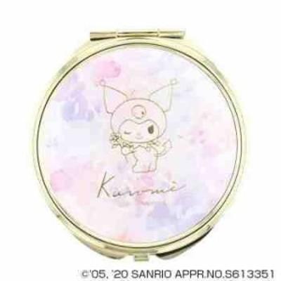 サンリオ クロミ KUROMI コンパクトミラー 手鏡 拡大鏡付 SR-M0032-PU
