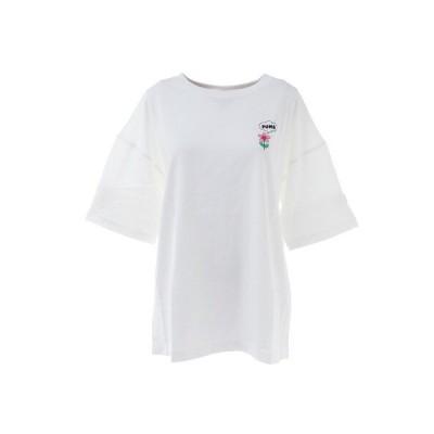 プーマ(PUMA) DOWNTOWN グラフィック Tシャツ 530244 02 WHT 半袖 (レディース)