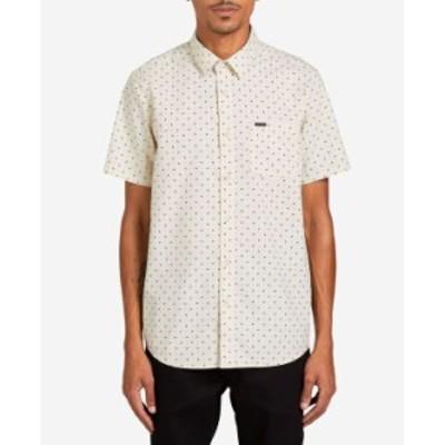 ボルコム メンズ シャツ トップス Men's Hallock Short Sleeve Shirt White Flash