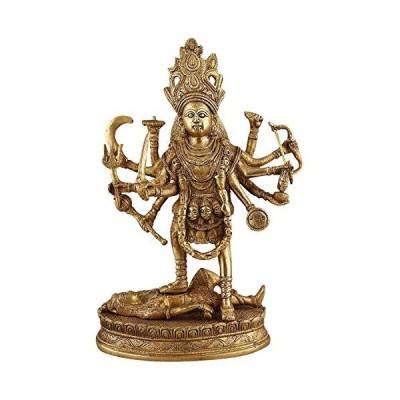 真鍮Standing Kali Statue Idol【並行輸入品】