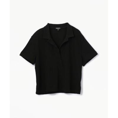 【トゥモローランド】 フレスカ ジャージー クロップドポロシャツ WFRJ3267 レディース 19ブラック 2(L) TOMORROWLAND