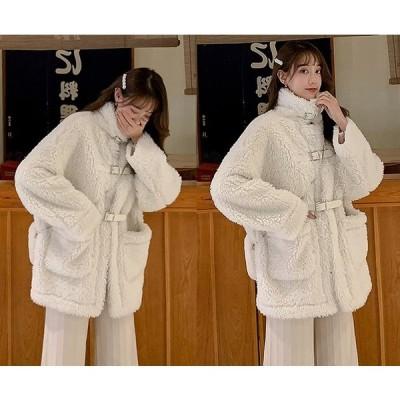 ファーコート マタニティウェア ファー付き 切り替え 体型カバー 着痩せ 大きいサイズ