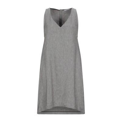 BIANCOGHIACCIO ミニワンピース&ドレス ダークブラウン 42 麻 50% / コットン 50% ミニワンピース&ドレス