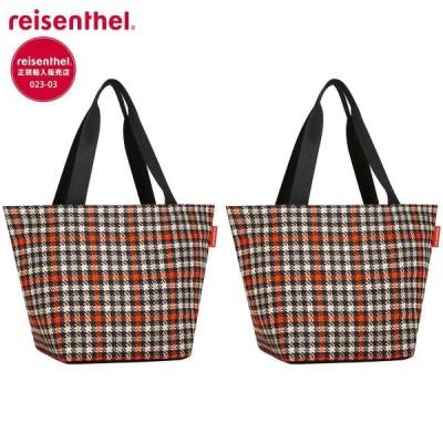 ライゼンタール ショッパー M GLENCHECK RED 2個セット 日本国内正規品 【 エコバッグ トートバッグ ショッパー ショッピング 肩掛け 買い物バッグ スクエア 】
