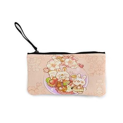 大容量 うさぎ柄 小銭入れ 持ち運び便利 小物入れ キャンバス ウォレット ポーチ ペンケース おしゃれ 財布 か?
