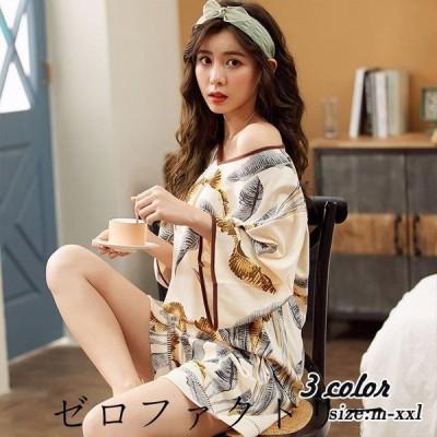 パジャマ ルームウェア レディース 春夏 半袖 パジャマ ショットパンツ ルームウェア 上下セット 可愛い 韓国風 パジャマ 女性 部屋着 寝巻き3色 新作
