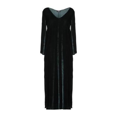 OTTOD'AME ロングワンピース&ドレス ダークグリーン 40 レーヨン 82% / シルク 18% ロングワンピース&ドレス
