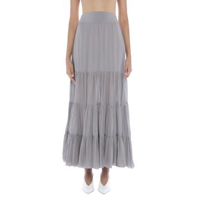 EUROPEAN CULTURE ロングスカート ライトグレー XS コットン 99% / ポリウレタン® 1% ロングスカート