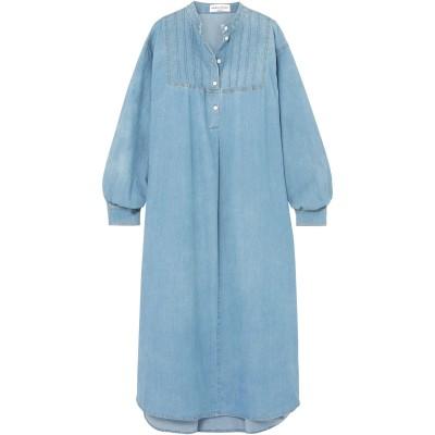 ソニア リキエル SONIA RYKIEL 7分丈ワンピース・ドレス ブルー 36 コットン 97% / ポリウレタン 3% 7分丈ワンピース・ドレス