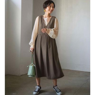 ジーラ GeeRA 【WEB限定】BIGプリーツジャンスカ (ブラウン)【Lサイズ】