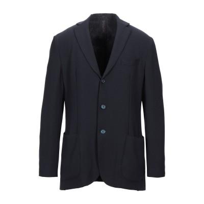 SANTANIELLO テーラードジャケット ダークブルー 52 ポリエステル 54% / ウール 44% / ポリウレタン 2% テーラードジャケ