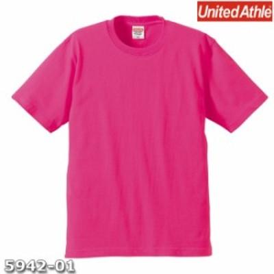Tシャツ 半袖 メンズ プレミアム 6.2oz XL サイズ トロピカルピンク 無地 ユナイテッドアスレ CAB