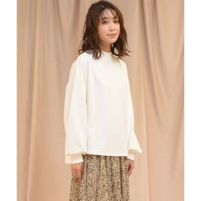tシャツ Tシャツ 【WEB別注】【socolla】ボリュームスリーブカットソー