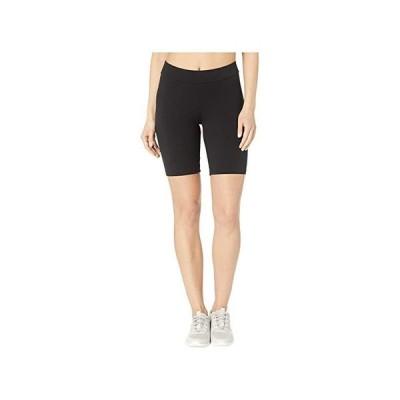 ヒュー High-Waist Blackout Cotton Bike Shorts レディース ショートパンツ ズボン 半ズボン Black
