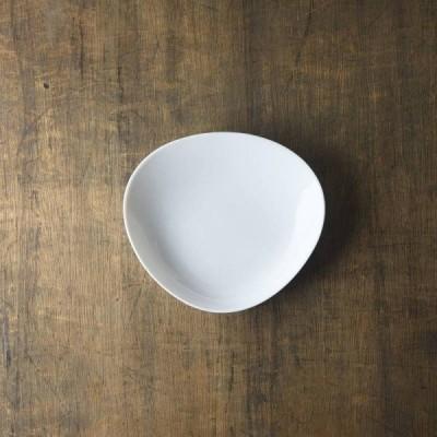 小田陶器 shell(シェル) 18cmクラム 中皿 白