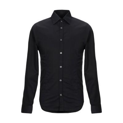 GAZZARRINI シャツ ブラック S コットン 100% シャツ