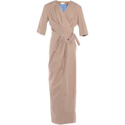 サラ・バッタグリア SARA BATTAGLIA ロングワンピース&ドレス サンド 38 コットン 100% ロングワンピース&ドレス
