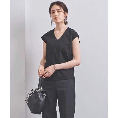 (UNITED ARROWS/ユナイテッドアローズ)UBCB C DOUBLE Vネック Tシャツ 2/レディース BLACK