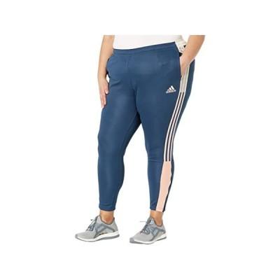 【本日限定Point最大23倍!!】(取寄)アディダス レディース プラス サイズ ティロ トラック パンツ adidas Women's Plus Size Tiro Track Pants Crew Navy/Pink