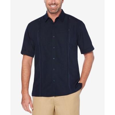 キューバベラ Cubavera メンズ 半袖シャツ トップス Double Tuck Short-Sleeve Shirt Navy Blaze