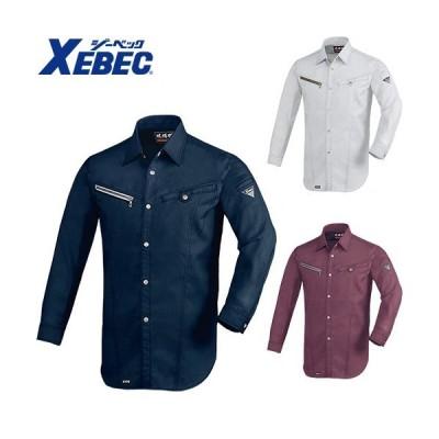 作業服 長袖シャツ ジーベック XEBEC ZIPパナマ現場服 長袖シャツ 2193 作業着 春夏