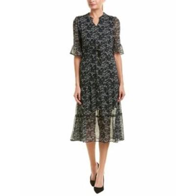 Shift  ファッション ドレス Hone Year Silk-Blend Shift Dress 8-10