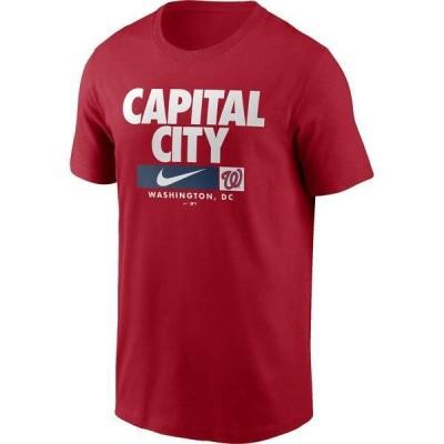 ナイキ メンズ Tシャツ トップス Nike Men's Washington Nationals Red Local Nickname Legend T-Shirt
