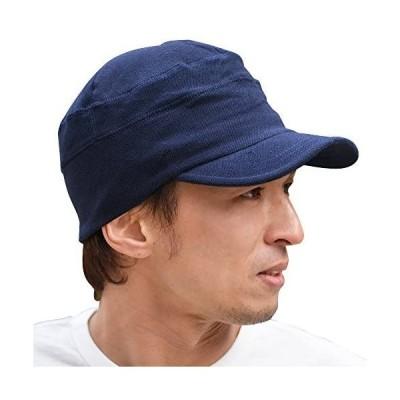 帽子 ワークキャップ 大きいサイズ キャップ ビックサイズ 鹿の子 nakota ナコタ ポロメッシュ 通気性 (ネイビー M)