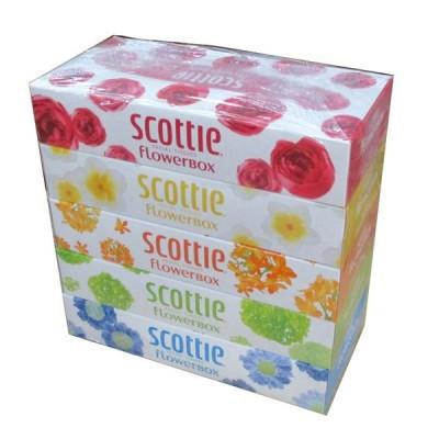ティッシュペーパー ボックスティッシュ スコッティー160組 5箱x1パック
