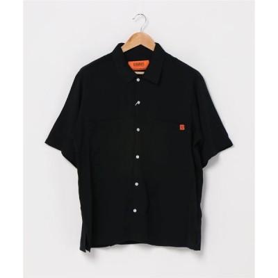 シャツ ブラウス 【UNIVERSAL OVERALL】OPEN COLLAR SHIRT オープンカラーシャツ U2023168