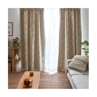 遮熱・遮光・防炎カーテン(ナチュラルフラワー) ドレープカーテン(遮光あり・なし) Curtains, blackout curtains, thermal curtains, Drape(ニッセン、nissen)