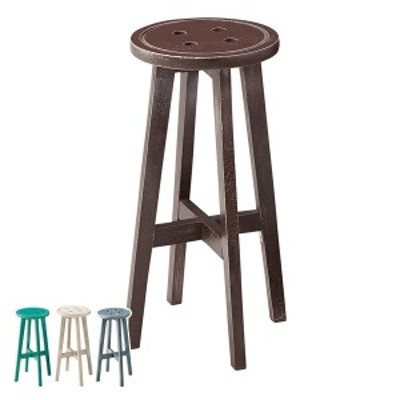 カウンタースツール 高さ60cm スツール 木製 天然木 椅子 イス チェア ハイスツール 円形 丸型 ( チェアー いす カウンターチェア 丸椅