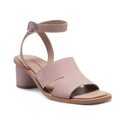 ラッキーブランド サンダル シューズ レディース Women's Pemel Block-Heel Dress Sandals Cameo Rose