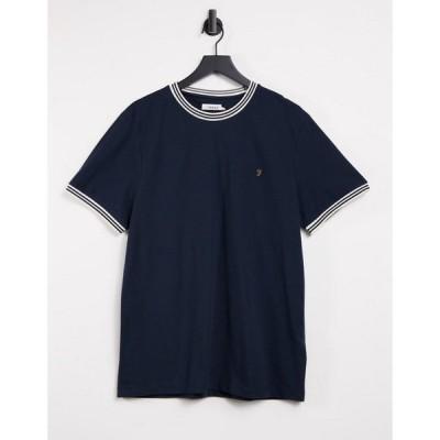 ファーラー Farah メンズ Tシャツ トップス Texas Slim Fit Ringer Detail T-Shirt In Navy ネイビー