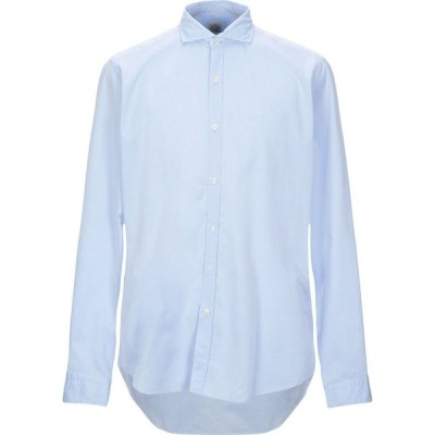 GMF 965 メンズ シャツ トップス solid color shirt Sky blue