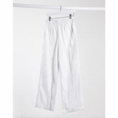 エイソス ASOS DESIGN レディース ジョガーパンツ ボトムス・パンツ tie side elastic waistband jogger in off white ホワイト