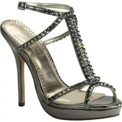 ジョナサン ケーン Johnathan Kayne レディース サンダル・ミュール シューズ・靴 Dante T-Strap Sandal Pewter Mirror Patent