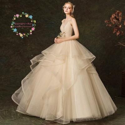 ウェディングドレス  白 袖あり 格安 レース 結婚式 花嫁  ロングドレス  ブライダル 二次会 パーティードレス 披露宴 プリンセスドレス 大きいサイズ