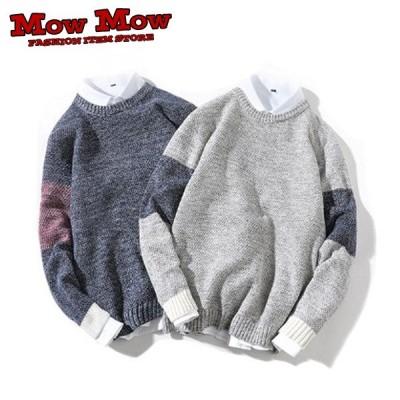ニット メンズ レディース セーター かわいい クルーネック トップス 秋冬物 春物 yoyaku-mnit0001