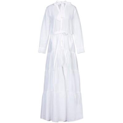 MIMI LIBERTÉ by MICHEL KLEIN ロングワンピース&ドレス ホワイト 38 麻 55% / コットン 45% ロングワンピー