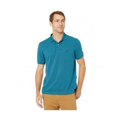 Nautica ナウティカ メンズ 男性用 ファッション ポロシャツ Short Sleeve Solid Deck Shirt - Blue