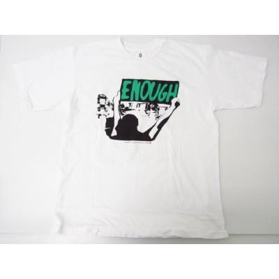 Cherry Los Angels ENOUGH チャリティーTシャツ ホワイト 白 SIZE:L♪FG4776