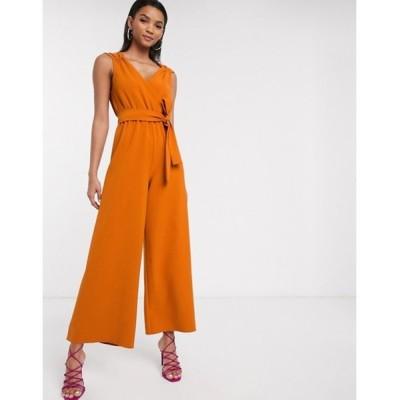 リクオリッシュ レディース ワンピース トップス Liquorish soft tailored jumpsuit in orange
