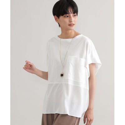 tシャツ Tシャツ 【ウォッシャブル】【接触冷感】ブロッキングTシャツ