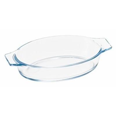 アデリア 耐熱ガラス グラタン皿 最大20×11.6×高4cm ベイクック ロースターオーバル 350ml 電子レンジ対応H-3851