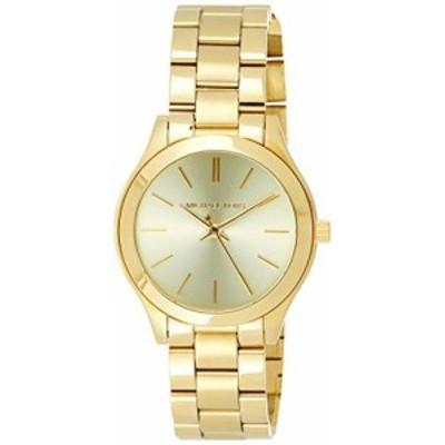 腕時計 マイケルコース レディース Michael Kors Women's Mini Slim Runway Gold-Tone Watch MK3512