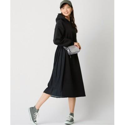 大きいサイズ 裏起毛バックプリーツワンピース【la farfa 21年1月号掲載】 ,スマイルランド, ワンピース, plus size dress